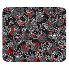 Red and gray abstract art Double Sided Flano Blanket (Small)