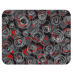 Red and gray abstract art Double Sided Flano Blanket (Medium)