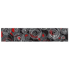 Red and gray abstract art Flano Scarf (Small)