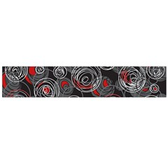 Red and gray abstract art Flano Scarf (Large)