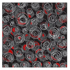 Red and gray abstract art Large Satin Scarf (Square)