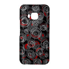 Red and gray abstract art HTC One M9 Hardshell Case