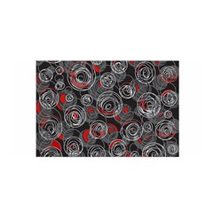 Red and gray abstract art Satin Wrap