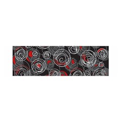 Red and gray abstract art Satin Scarf (Oblong)