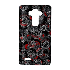Red and gray abstract art LG G4 Hardshell Case