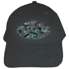 Gray and blue abstract art Black Cap