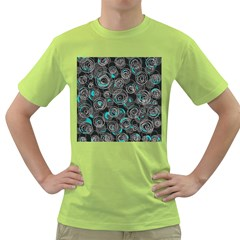 Gray and blue abstract art Green T-Shirt