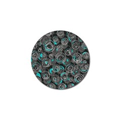 Gray and blue abstract art Golf Ball Marker (4 pack)
