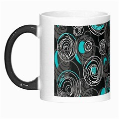 Gray and blue abstract art Morph Mugs