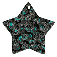 Gray and blue abstract art Star Ornament (Two Sides)