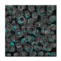 Gray and blue abstract art Face Towel