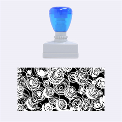Gray and blue abstract art Rubber Stamps (Medium)