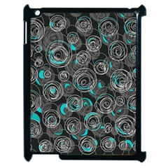 Gray and blue abstract art Apple iPad 2 Case (Black)
