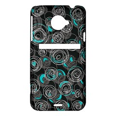 Gray and blue abstract art HTC Evo 4G LTE Hardshell Case