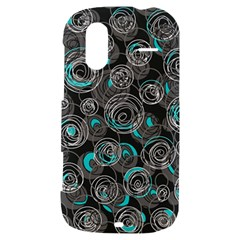Gray and blue abstract art HTC Amaze 4G Hardshell Case
