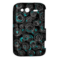 Gray and blue abstract art HTC Wildfire S A510e Hardshell Case