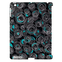 Gray and blue abstract art Apple iPad 3/4 Hardshell Case (Compatible with Smart Cover)