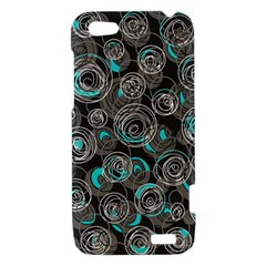 Gray and blue abstract art HTC One V Hardshell Case