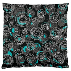 Gray and blue abstract art Large Cushion Case (Two Sides)