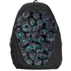 Gray and blue abstract art Backpack Bag