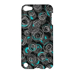 Gray and blue abstract art Apple iPod Touch 5 Hardshell Case