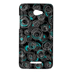 Gray and blue abstract art HTC Butterfly X920E Hardshell Case