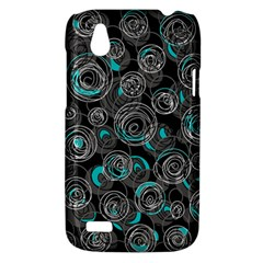 Gray and blue abstract art HTC Desire V (T328W) Hardshell Case