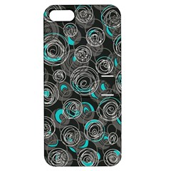 Gray and blue abstract art Apple iPhone 5 Hardshell Case with Stand