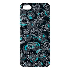 Gray and blue abstract art Apple iPhone 5 Premium Hardshell Case