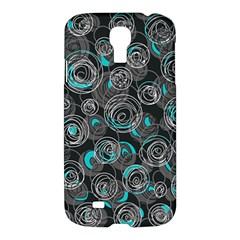 Gray and blue abstract art Samsung Galaxy S4 I9500/I9505 Hardshell Case