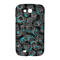 Gray and blue abstract art Samsung Galaxy Grand GT-I9128 Hardshell Case