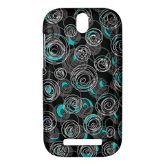 Gray and blue abstract art HTC One SV Hardshell Case