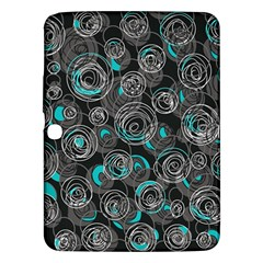 Gray and blue abstract art Samsung Galaxy Tab 3 (10.1 ) P5200 Hardshell Case