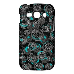 Gray and blue abstract art Samsung Galaxy Ace 3 S7272 Hardshell Case