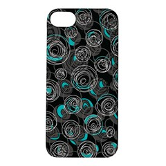 Gray and blue abstract art Apple iPhone 5S/ SE Hardshell Case