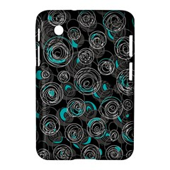 Gray and blue abstract art Samsung Galaxy Tab 2 (7 ) P3100 Hardshell Case