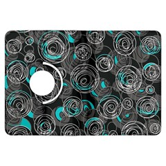 Gray and blue abstract art Kindle Fire HDX Flip 360 Case