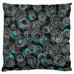 Gray and blue abstract art Standard Flano Cushion Case (Two Sides)