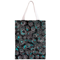 Gray and blue abstract art Classic Light Tote Bag