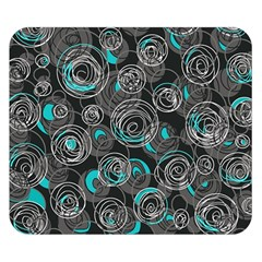 Gray and blue abstract art Double Sided Flano Blanket (Small)