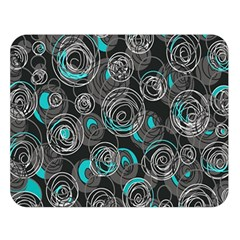 Gray and blue abstract art Double Sided Flano Blanket (Large)
