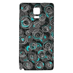 Gray and blue abstract art Galaxy Note 4 Back Case