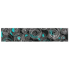 Gray and blue abstract art Flano Scarf (Small)
