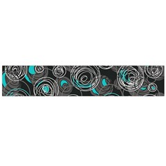 Gray and blue abstract art Flano Scarf (Large)