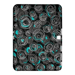 Gray and blue abstract art Samsung Galaxy Tab 4 (10.1 ) Hardshell Case