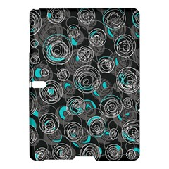 Gray and blue abstract art Samsung Galaxy Tab S (10.5 ) Hardshell Case