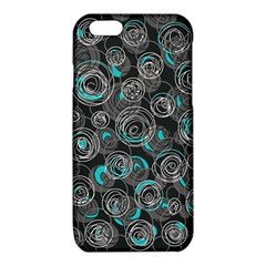 Gray and blue abstract art iPhone 6/6S TPU Case