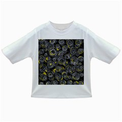 Gray and yellow abstract art Infant/Toddler T-Shirts