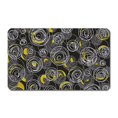 Gray and yellow abstract art Magnet (Rectangular)