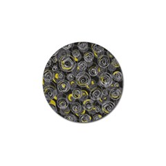 Gray and yellow abstract art Golf Ball Marker (10 pack)
